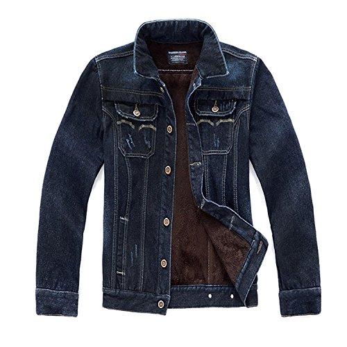 Outerwear Plus Denim Jackets Mens Winter Warm Thick Zhuhaitf Coats Fashion Velvet x16WqR