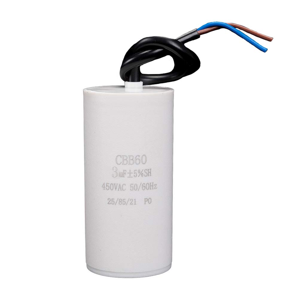 ICQUANZX 3uF CBB60 Condensador de Lavadora AC450V 50 / 60Hz ...