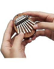 REGIS Kalimba 8 Key exquisite Finger Thumb Piano Marimba Musical good accessory Pendant Gif (8 Key, Light Brown)