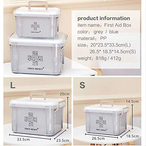SMEI Medicine Box First Aid Kit Boîte De Plastique Container Emergency Kit Portable Multi-layer Large Capacity Storage… 5