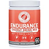 Silver Fern Brand Endurance - Pre Workout Energy Drink Mix Supplement Powder - Raspberry Lemonade - 1 Tub = 60 Servings - Boost Power, Energy & Mood - With D-Ribose, Alpha-GPC, Vitamin K2-7 & More (1)