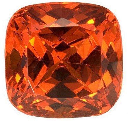 Luminous Intense Spessartite Garnet Gemstone for SALE, Antique Cushion, 12.04 carats