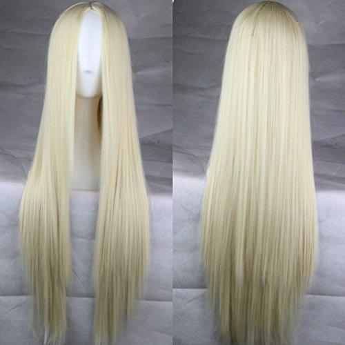 75cm Long Straight Anime Cosplay Wigs Heat Resistant Hair WigLight (Blonde Nicki Minaj Wig)