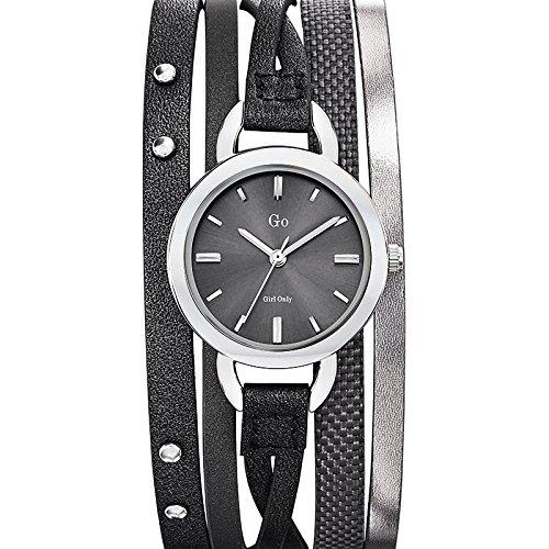 Go girl only 698536 - Reloj de Pulsera Mujer, Piel, Color Gris: Amazon.es: Relojes