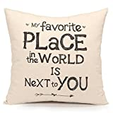 Acanva Decorative Accent Throw Pillow Cover Cushion Sham Case, Inspirational Sweet Love Quote Print