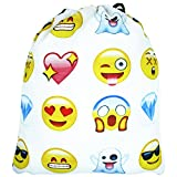 Emojis Drawstring Backpack Bags with Polyester Material Sport String Sling Bag for Kids Teens
