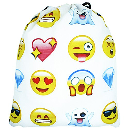 Emojis Drawstring Backpack Bags with Polyester Material Sport String Sling Bag for Kids Teens - Galaxy Mountain Sleeping Bag