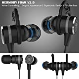 KEKU Wired E-Sport Earphone Noise Cancelling Stereo Bass Gaming Earbuds Headphone headset With Mic, 3.5mm Hifi Earbuds with Extension Cable and PC Adapter for PC, Laptop and Cellphones (black)