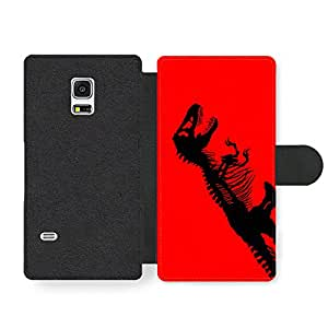 Black T-Rex Dinosaur on Red Background Action Movie Poster Funda Cuero Sintético para Samsung Galaxy S5 mini