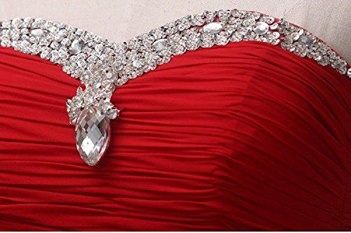 Abendkleider förmlichen Pailletten Trägerloses Rot lang Maxi Emily Beauty 4qIXTT