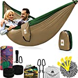 Truly the BEST Camping Hammock ready for travel! Make that first step into nature, breathing the clean air and hearing the silence, as if you are opening a hidden world within yourself. Tired of falling out of the hammock, losing time to set it up or...