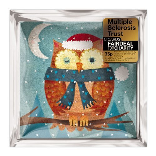 Charity Christmas Cards (ALM4401) Multiple Sclerosis Trust - Christmas Owl - Pack Of 8 Cards Almanac Gallery