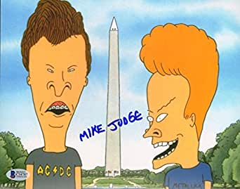 "MIKE JUDGE Signed Autographed ""BEAVIS & BUTTHEAD"" 8x10 Photo BECKETT BAS #C34787"