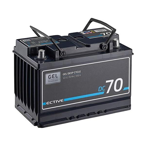 51WB9nVgFsL ECTIVE 70Ah 12V Gel Versorgungsbatterie DC 70 Gel Deep Cycle Solar-Batterie VRLA Zyklenfest in 2 Varianten (wartungsfrei…