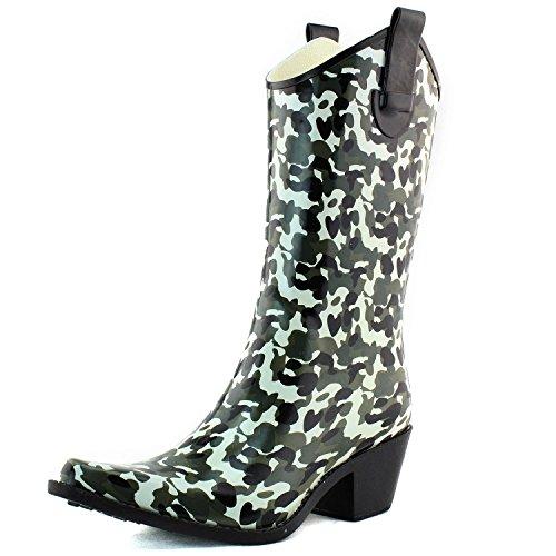 Nature Breeze Womens Cb Rain 15 Prints Rain Boots Fashion Shoes
