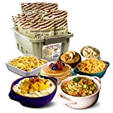2-Week Emergency Food Supply – 92 Servings for Long-Term Storage, Up To 25-Year Shelf Life, 8 Delicious Recipes Last One Adult 14 Days