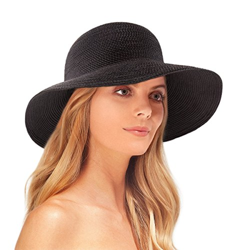 Eric Javits Luxury Fashion Designer Women's Headwear Hat - Squishee IV - Black by Eric Javits