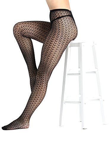 031db16d0 Joyaria Womens Fishnet Tights Suspender Pantyhose Thigh High Stockings Sexy  Black Patterned 4 Pack