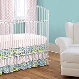 Carousel Designs Painted Paisley Crib Skirt Three Tier 18-Inch Length