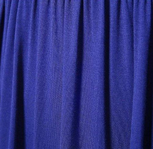Donne Abito Profondo Tunica V Scollo A Coolred Navy Corta Top Manica Blu Pieghettato Sexy rr6wBqpv