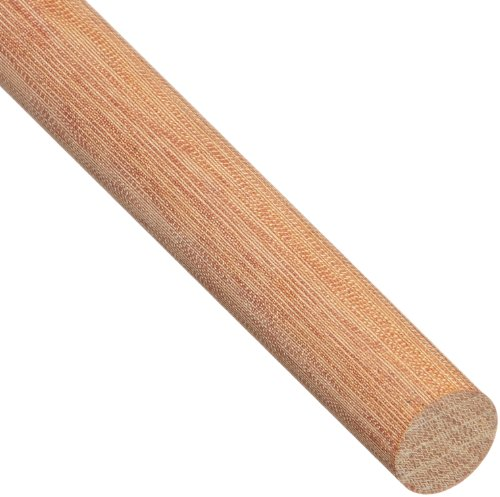 Phenolic CE Round Rod, Opaque Natural, Meets MIL-I-24768/14, 1-3/8'' Diameter, 4' Length by Small Parts