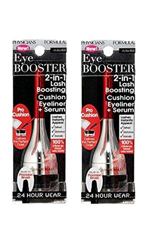 Lot of 2 Physicians Formula EyeLiner +Serum Eye Booster Ultra Black 6630 -044386066304