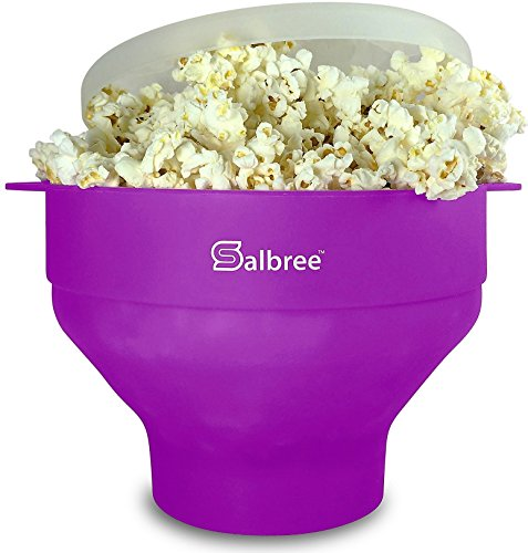 The Original Salbree Microwave Popcorn Popper, Silicone Popcorn Maker, Collapsible Bowl BPA Free - 14 Colors Available ()