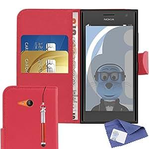 iTALKonline Nokia Lumia 730/735PU piel Ejecutivos multifunción carpetas Buzón protectora veranstalter Flip con la tarjeta de crédito/Visita Dinero de soporte, protector de pantalla LCD y kopfhörerhalterung 3,5mm Mini Retractable Stylus Lápiz