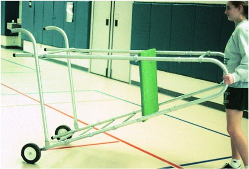 Portable Referee Stand in Silver & Green