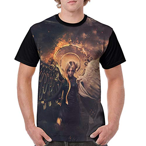 Angel Devil Fairy Man T-Shirt Style Tee Shirt 3D Costume Adults Top S -