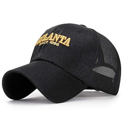 Sombrero de Sol Bordado protección Solar Hembra Negro Ajustable ...