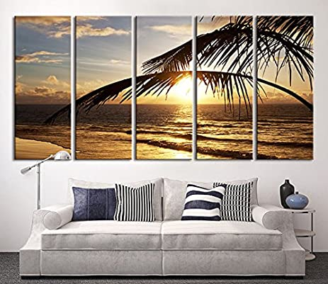 Delightful Extra LARGE Wall ART   Beach And Sunset Canvas Print, Seascape Canvas  Print, Large
