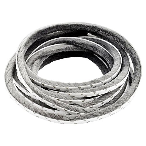 Tb Seals - T&B Self-Adhesive Pile Weatherstrip for Windows & Doors 3/8 in. W x 1/4 in. H Grey 12m (39.3ft)
