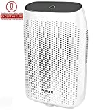 Hysure Electric Dehumidifier, Portable Dehumidifier with 2L(4.2 Pints) Water Tank, Electric Mini Dehumidifier for Bathroom, Auto Shutoff Ultra Quiet Dehumidifier for Basement Kitchen Bedroom Grey: more info