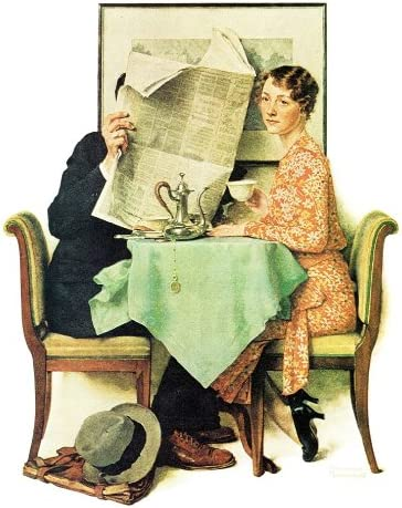 CANVAS OR PRINT WALL ART Our Heritage-Norman Rockwell