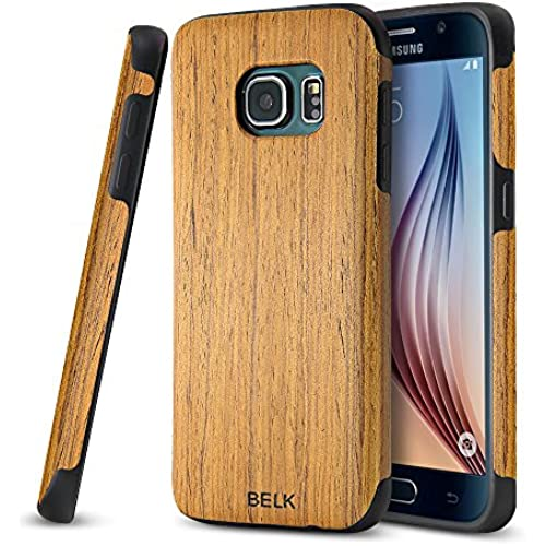 Galaxy S7 Edge Case,JGOO [Nature Wood][Heavy Duty]Ultra Slim Dual Layer Non Slip Natural Genuine Wooden Case Cover+Soft Skookproof TPU Rubber,Full Sales