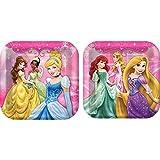 Disney Princess Party Pack. 24 Disney Princess Party Dinner Plates & 32 Disney Princess 'Dreams' Large Lunch Napkins. Bundle of 5