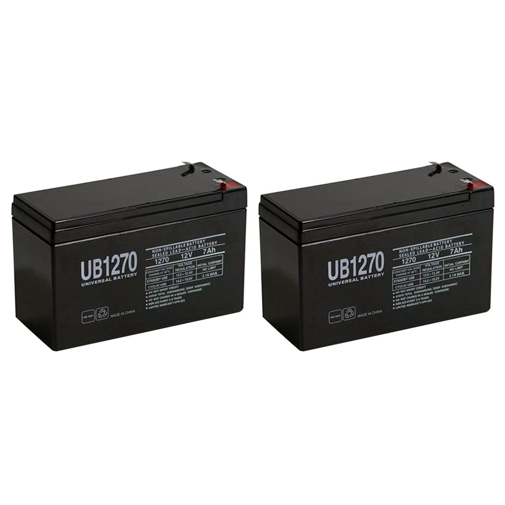 UPG - UB1270 12V 7AH BATTERY FM150 / GTO, Gate Openers - 2 Pack - UB1270MP227