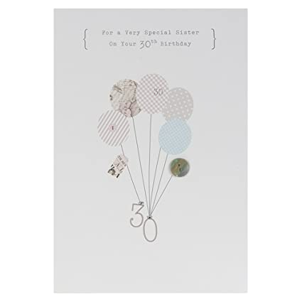 Hallmark 30th Birthday Card For Sister 'Hope It's Amazing' - Medium
