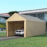 Carport, OT QOMOTOP 10x20ft Heavy Duty Carport with