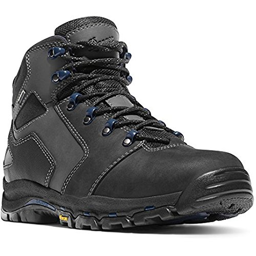 Danner Vicious 4.5'' Black/Blue Vibram Sole Oil & Slip Resistant | Made In USA Waterproof Gore-TEX (GTX)| Electrical Hazard Boot Leather | Climb Mountains (8.5 EE)