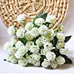6-Branches-30-Flower-Heads-Small-Lilac-Silk-Artificial-Flowers-Gifts-White