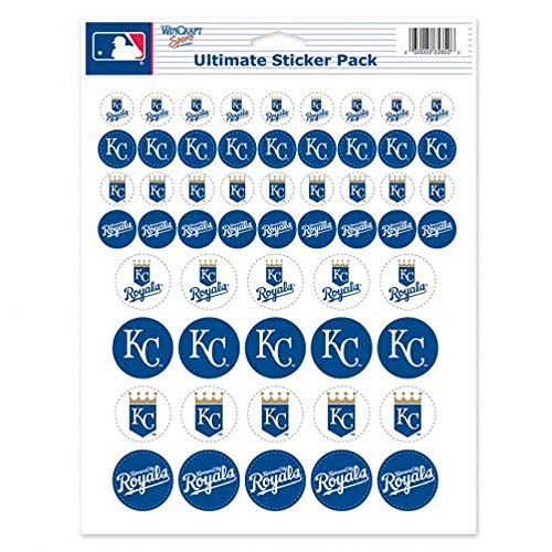 Wincraft MLB Kansas City Royals Vinyl Sticker Sheet, 8.5