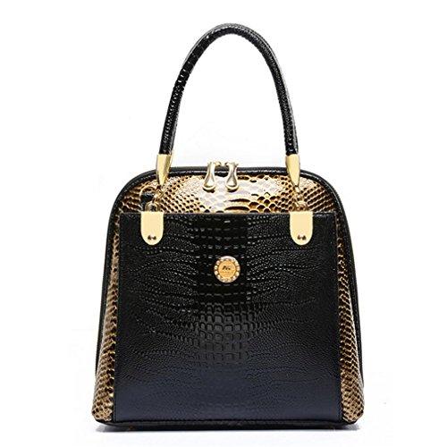 Blue Sunshine Lady Fashion Personality Snake Pattern Top Grade Handbag (sky Blue)