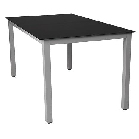 Tavoli Da Giardino In Alluminio Amazon.Miadomodo Tavolo Da Giardino In Alluminio Grigio Chiaro 147 X 87 Cm
