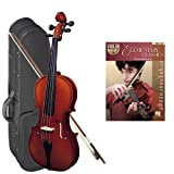 Strunal 220 Student Violin Elementary Classics Play Along Pack - 1/2 Size European Violin w/Case & Play Along Book