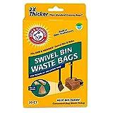 Arm & Hammer Swivel Bin Waste Bags, Penny, 20-Pack
