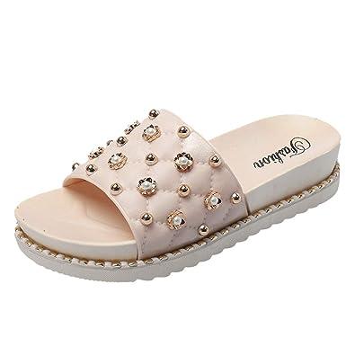 Chaussures Sandale Femmes Plage Ficelle Lmryjq De Sexy Perle Femme e9WDYE2IH