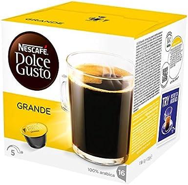 NESCAFE Dolce Gusto Grande bolsitas de café 16 cápsulas (Pack de 3 ...