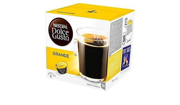 NESCAFE Dolce Gusto Grande bolsitas de café 16 cápsulas (Pack de 3 x 128 g): Amazon.es: Alimentación y bebidas